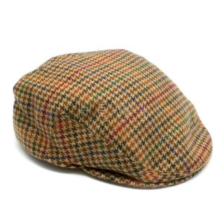 Lock & Co. Hatters Brown Houndstooth Cashmere Flat Cap