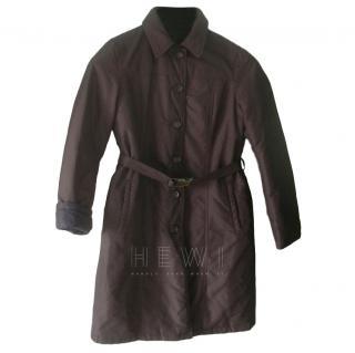 S' Max Mara Brown and Black Reversible Coat