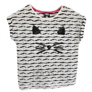Karl Largerfeld Kid's Sequin Kitty T-Shirt