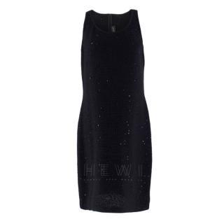 St. John Couture knit sequin black dress