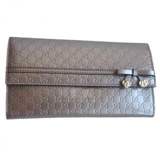 Gucci Candy Shine Micro Guccissima Charm Continental Wallet