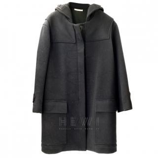 Celine Navy Virgin Wool Duffle Coat