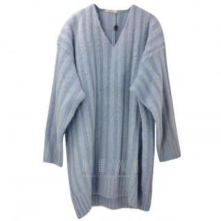 Celine Powder Blue Ribbed Wool Sweater