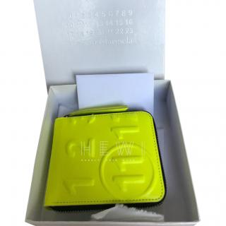 Maison Margiela Neon Zip-Around Wallet