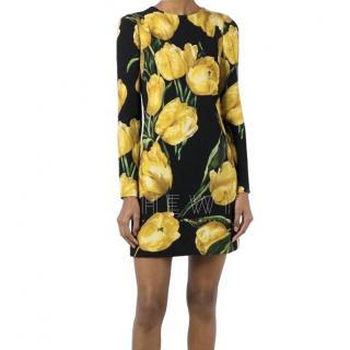 Dolce & Gabbana Tulip Print Crepe Dress
