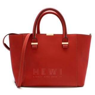 Victoria Beckham Red Liberty Leather Tote bag
