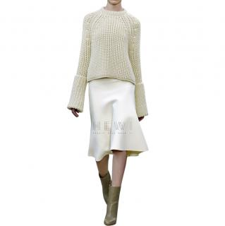 Celine Ecru Wool Knit Jumper