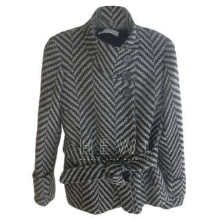 Gerard Darel Herringbone Belted Coat