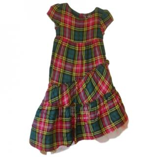 Junior Gaultier Tartan Asymmetric Dress