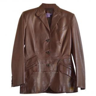 Ralph Lauren Collection Brown Leather Riding Jacket