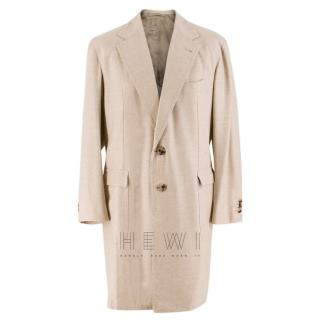 Gennaro Solito Bespoke Cashmere Single Breasted Coat