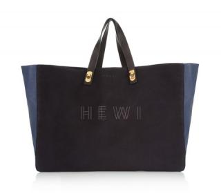 Marni Two-tone Suede and Leather Shopper