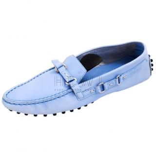 Tod's Blue Loafers