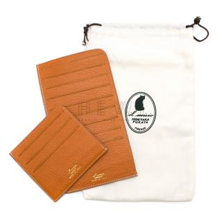 Hidetaka Fukaya Brick orange bespoke Leather Wallet