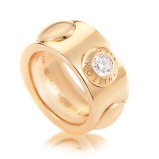 Louis Vuitton Clous 18K Yellow Gold Diamond Ring