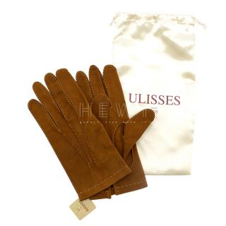 Ulisses Leather Contrast Overstitch Gloves