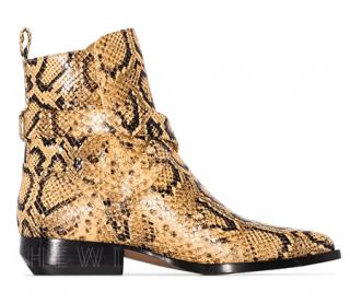 Chloe rylee 30mm snake-effect ankle boots - new season