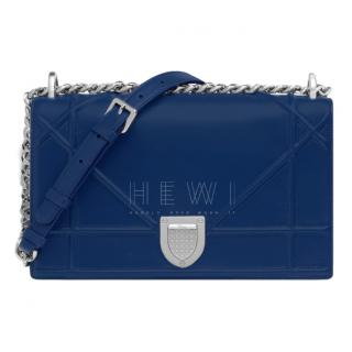 Dior Blue Cannage Leather Diorama Bag