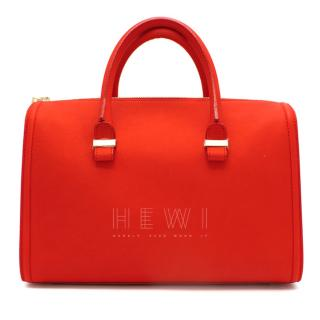 Victoria Beckham Red Seven Leather Bowling Bag