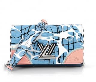 Louis Vuitton Twist Chain Wallet in Aqua Epi Leather