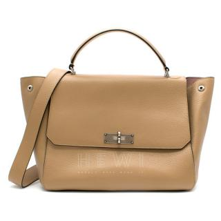 Bally Leather Breeze Beige Small Top handle Bag