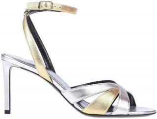 Celine Metallic Strappy Sandals