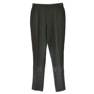 Lanvin Men's Black Tailored Trousers