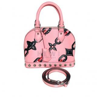 Louis Vuitton Pink Flower Chain Limited Edition Alma BB Bag