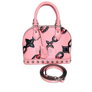 Louis Vuitton Pink Flower Chain Limited Edition Alma BB Bag