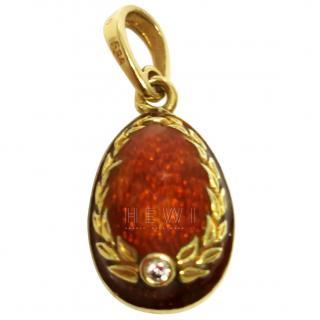 Bespoke Vintage Gold & Enamel Egg Pendant