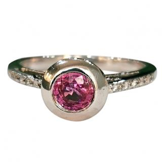 Bespoke Pink Sapphire & Diamond Ring