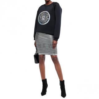 Balmain Striped-Knit Mini Skirt
