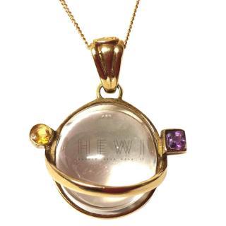 Bespoke Crystal-Orb Pendant Necklace