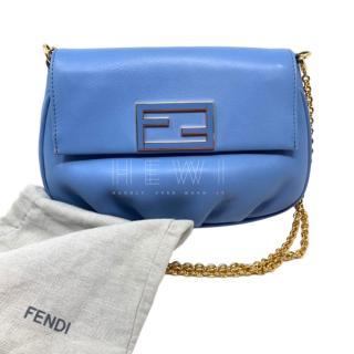 Fendi Blue FF Shoulder Bag
