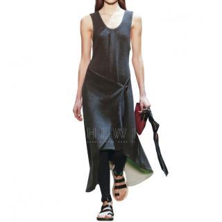 Celine Charcoal Wool Asymmetric Dress