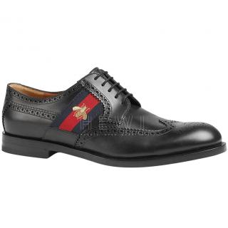 Gucci Men's Web Stripe Brogues