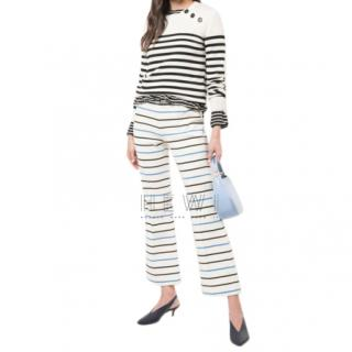 Sonia Rykiel Stripe Knit Capri Pants