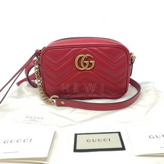 Gucci Red Mini Marmont Camera Bag