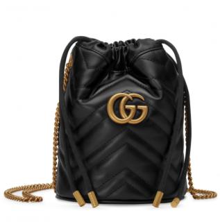 Gucci mini GG Marmont bucket bag