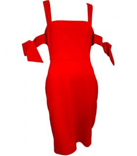 Badgley Mischka Arm-Tie Red Dress
