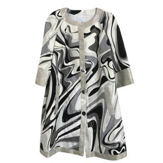Emilio Pucci Abstract-Print Collarless Coat