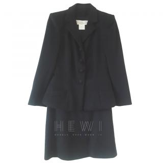 Christian Dior Single Breasted Black Skirt Suit