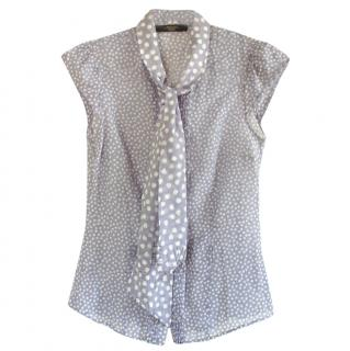 Weekend MaxMara Tie-Neck Sleeveless Blouse
