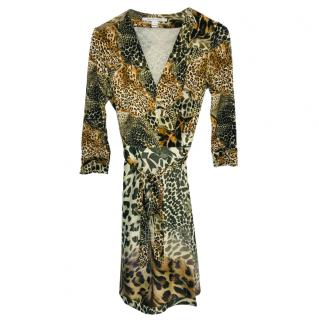 Diane von Furstenberg Multi Leopard-print wrap dress