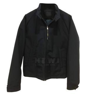 Prada zip-through navy jacket