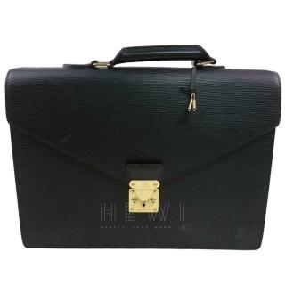 Louis Vuitton Serviette Ambassadeur M54412 Black Epi Brief Case 11319