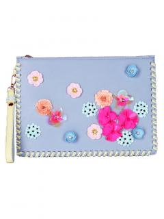 Sophia Webster Flossy Lilico Embroidered Leather Clutch