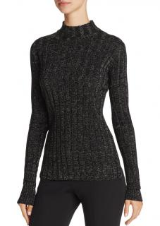 Theory Metallic Ribbed Merino Wool Sweater