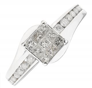 Bespoke white gold diamond set ring