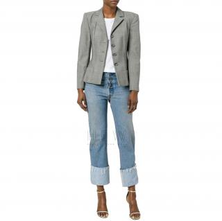 Dior Boutique grey glen check blazer/jacket